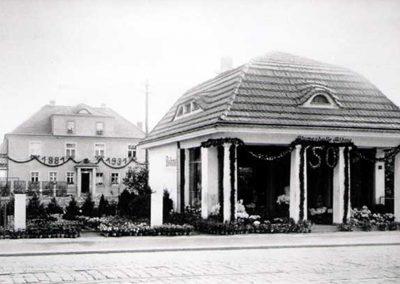Blumenhalle Boehme in Dresden Tolkewitz 50 Jahre Feier