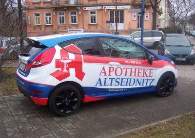 Fahrzeugbeschriftung-Werbung-Apotheke-Altseidnitz-Dresden-wegaswerbung