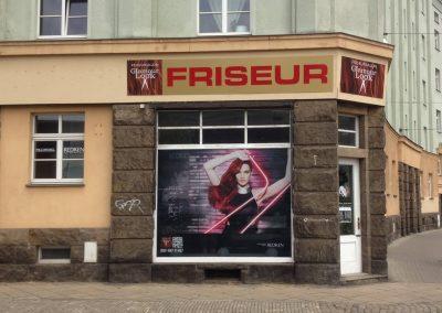 Friseur-Glamour-Look-Schaufensteraufkleber-wegaswerbung
